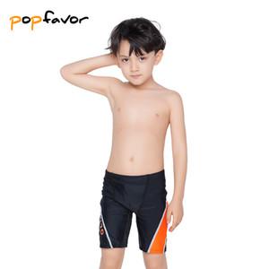 Roupa de Natação Shorts POPFAVOR Marca Crianças Trunks Preto Crianças Swimwear Natação bonito do menino Trunks Sunga Swimsuit do menino