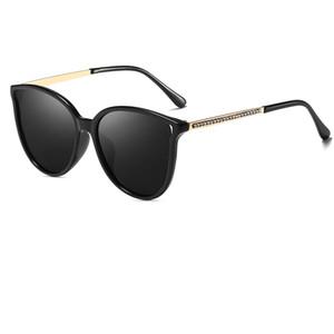 Nueva marca Lady Round Cat Eye Diamond Frame Gafas de sol Gafas de verano Beach Cat Eye Gafas de sol Gafas de sol brillantes de las mujeres Enviar caja