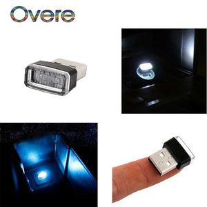 USB Атмосфера Overe 1PC Авто LED автомобиля свет лампы для 508 308 206 307 207 407 2008 C4 C5 Astra J H Insignia