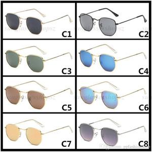 hommes et femmes tendance marque lunettes de soleil mode losange lunettes cadre en métal UV400 lunettes Retro rond 3548 lunettes de soleil