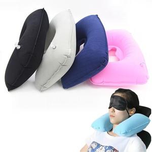 5 Pc cuscino gonfiabile Air Cushion resto del collo a forma di U compatto Aereo Volo di viaggio Cuscini Home Textile 26.5cmx44cm