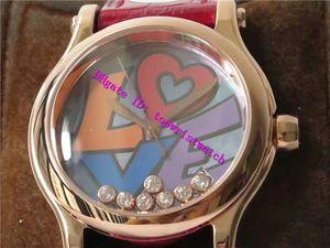 DIAMANTES happy new 278559 Amor Mulheres relógios suíços 2892 Automatic 28800 vph Ladies Watch Mãe-de-pérola Dial Sapphire Rose Gold Mulher Assista