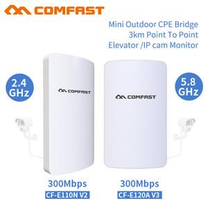 2adet Uzun mesafe Kablosuz açık 2.4 / 5 Ghz 3KM Ağ köprüsü 11dBi Anten wi fi erişimi yönlendirici