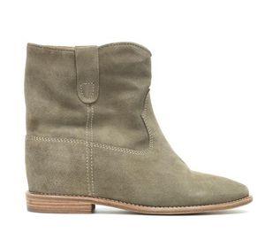 2020 Mükemmel Nadir Klasik Moda Isabel Crisi Süet Bilek Boots Yeni Marant Gerçek Deri Paris Sokak Batı Tarzı Ayakkabılar