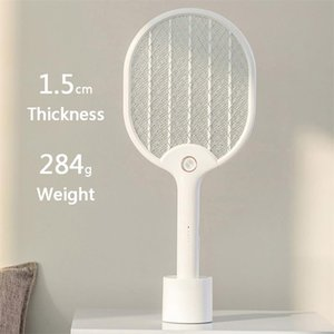 Xiaomi Youpin J&J Electric Mosquito Swatter Rechargeable LED Electric Insect Bug Fly Mosquito Dispeller Killer Racket 3-Layer Net