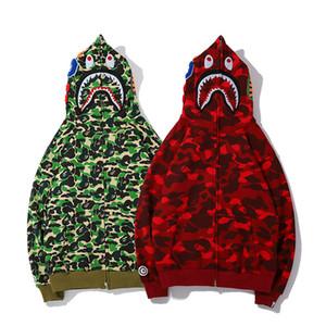 Nuevo amante al por mayor Camo verde rojo impreso patrón animal chaqueta con capucha hombres mujeres Casual Hip Hop de algodón suéter ocasional