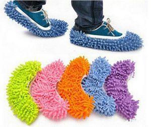 Venta caliente-Multifunción Mop Shoe Cover Dust Mop Slipper House Cleaner Lazy Floor Dusting Limpieza Slipper Housekeeper Foot Shoe