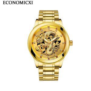 Tira de acero ECONOMICXI largo Wen luminosos hombres impermeables El reloj principal a largo Wen estudiante del reloj de los hombres de