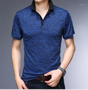 Casual Tees Male Apparel Mens Pullover Lapel Neck Short Sleeved Tshirts Loose Designer Business Polos Summer