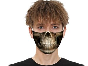 5 layers Meltblown 3D Digital face mouth mask 5 floor of filtering protectionPM2.5 fashion  safer adults kids mask Adjustable Earhook
