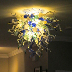 High Ceiling Lights Italy Designer Mounted Lamps Art Deco LED Blown Glass Kitchen Ceiling Light Living Room Furniture Chandeliers Ceiling -L