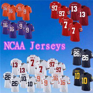 top 2019 Maglia NCAA 16 Trevor Lawrence 9 Maglietta travis Etienne Jr. College Football 13 Tua Tagovailoa Maglie 7 Maglie Dwayne Haskins Jr.