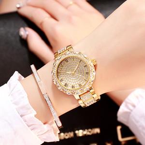 Ma'am Luxurious Grace Steel apporte le fonds de la qualité de la montre à quartz étudiant à la montre-bracelet