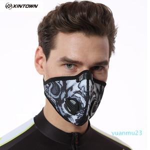 Gros-XINTOWN hommes / femmes vélo Masque extérieur Exercice d'entraînement Masque Anti-Activated Carbon Pollution anti-poussière à vélo Visage