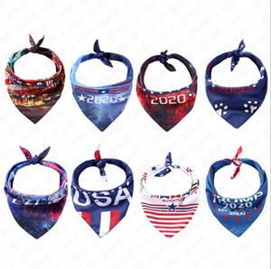 Для Pet BIDEN Треугольный шарф Американский Президентские выборы Donald Trump Letters Prined шарф Собаки Кошки банданы Pet Принадлежности Новый D6501