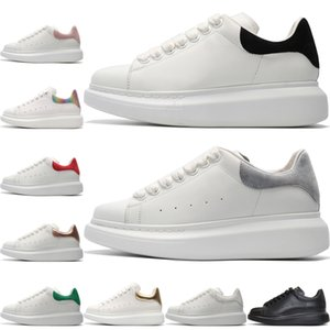 Mujer Hombre Zapatos Casual Triple negro blanco Zapatos de vestir para hombre Plataforma Zapatos Desinger Grils Cuero Rojo Verde gris Zapatillas de deporte con