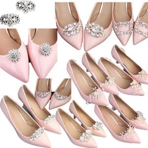 2pcs Shoe Clip Wedding Shoes High Heel Women Bride Decoration Rhinestone Shiny Decorative Clips Charm Buckle shoe accessoires