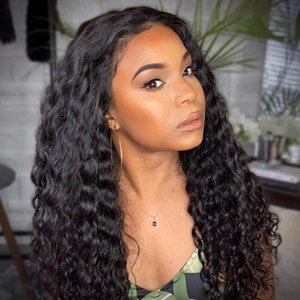 360 Lace Frontal Wigs Pre Plucked With Baby Hair Body Wave Full Human Hair Long 150 density Water Wave