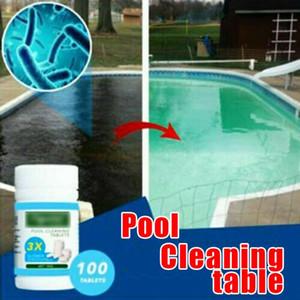 50 adet Clarifier Küvet Spa Klor Tabletleri Yosun Önleyici Yüzme Havuzu Su Temizleme Sigara Toksik Efervesan Açık Tabletler