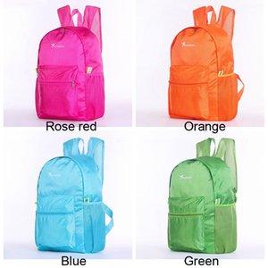 Portátil de viaje plegable mochilas de senderismo impermeable ligero de los deportes bolsa de almacenamiento de gran capacidad estudiantes mochilas escolares VT1601 T03