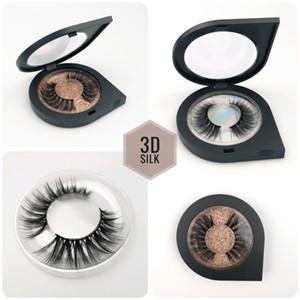 3D Faux Mink Pestañas al por mayor! ! Mixta OEM para requisitos particulares del logotipo aceptable proteína de seda de 25mm 3D Lashes 100% Cruelty Free Eye Lashe envío de la gota