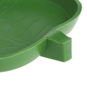New Reptil Wasser Futternapf Bowl Kunststoff Gecko Mahlzeit Wurm Feeder-Blatt-Form 2size