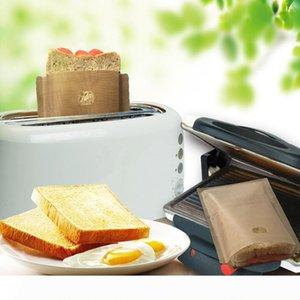 토스터 가방 비 스틱 빵 가방 샌드위치 가방 유리 섬유 토스트 전자 레인지 난방 과자 도구를 코팅 재사용