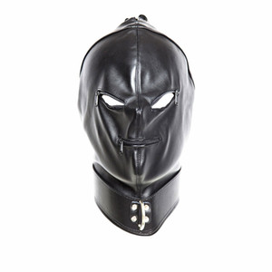 bdsm head hood face mask with zipper bondage gear restraints training black adult sex toys for women GN312400023