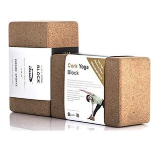 """1PC Virson mantar Yoga blok, toksik olmayan, antibakteriyel, süpürme emici spor mantar yoga bloğu, klasik boyutu 9 """"6"""", 4"""""""