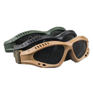 3 farben schutzbrille metall net brille anti-explosion äußere schutzbrillen für bereich spiel zubehör c5658