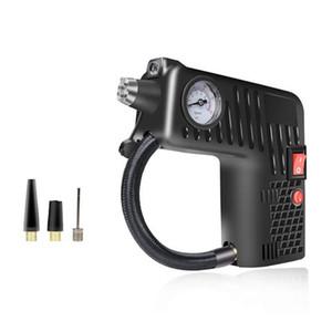 Pneus en métal noir pour voitures, motos, bicyclettes, canots pneumatiques, balles, pompe à air électrique pour voiture, type pistolet 12V
