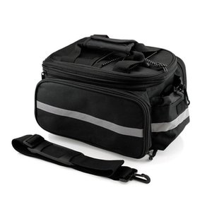 New Cycling Bike Bicycle Rear Tail Seat Trunk Bag Pannier Pouch Rack Shoulder Travel (Black)