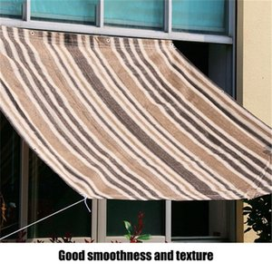 VOGVIGO 1pc HDPE dark coffee + light coffee + Beige balcony canopy shade, heat insulation and sunscreen