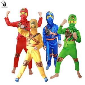 Ninjago trajes de fiesta para niños Ropa de superhéroes Cosplay Ninja Costume Girls Disfraces de Halloween Fiesta de disfraces Vestidos para niños para niños J190514