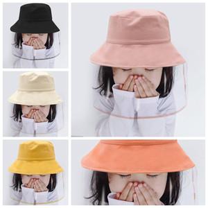 Staubdicht Schutz Gesichtsabdeckung Hüte Kübel Hatouble versahen Party-Hut mit abnehmbarem Gesichtsschutzschild transparenter Maske für Kinder RA3251