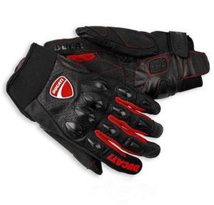 guantes de motocicleta Ducati guantes respirables carreras de guantes resistentes a golpes de cuero de la motocicleta montar