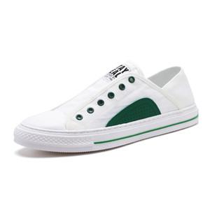 Комфортное Узелок 2019 Новой мода Тип White Men Casual обуви Мода тапок мода удобная обувь для наружной Walking