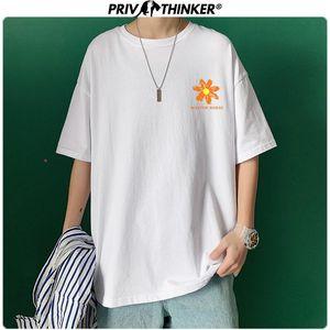 Privathinker 2020 Mens flower Printed Short Sleeve Summer Tshirts Men Loose Harajuku T-Shirt Streetwear Clothing Tshirt Fashions