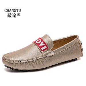 Herren Leder Loafers Erwachsener Mokassins Beleg auf Männer beiläufige Schuh-Mode-Weinlese-Wohnungen Männer große Größe Driving Schuhe