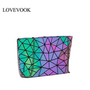 Kadınlar için LOVEVOOK crossbody çanta Retro KIZ DIR omuz çantası geometrik çanta ışık rengi 2019 ile 2019 katlanabilir messenger çanta