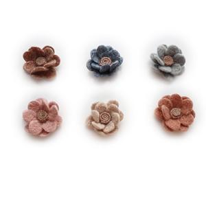 30 PCS 55mm Sweet Style Worsted Flowers Connettori Fascino DIY Accessori per gioielli fatti a mano