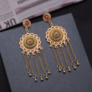 Earrins ottone 24K colori per i fascini delle donne di collegamento di alta qualità Fai da te accessori nappa orecchini di risultati dei monili