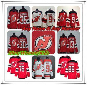2019 New Jersey Devils Jack Hughes Trikots Hockey P.K. Subban Taylor Halle Nico Hischier Martin Brodeur Cory Schneider Andy Greene Palmieri