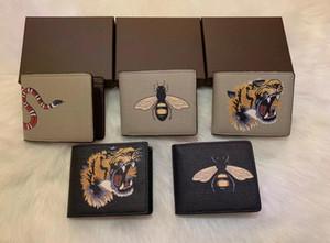 teste padrão animal Paris xadrez estilo designer mens carteira homens famosos luxo carteiras tela pequena carteira curta múltipla especial bifold com caixa