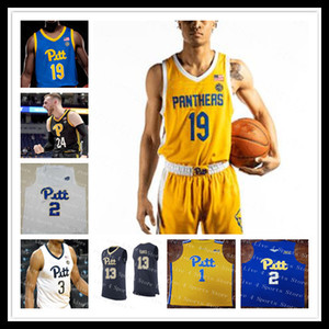 Personalizzato 2021 College Basket Pittsburgh Pitt Panthers Jersey Trey McGowens Xavier Johnson Justin Champagnie Ryan Murphy Au'diese Toney 4xl