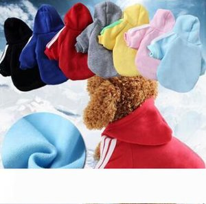 Casual Dog Hoodies Fall Winter Pet Dog Clothes Pets Coats Soft Cotton Dog Hoodies Clothing For Puppy Dogs XS-2XL