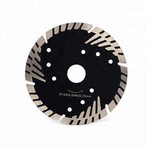 D105-230mm Hot Press Sintered Turbo Diamond Cut Saw Blade Triangle Protect Teeth Diamond Cutting Disc for Stone Marble Cutting Wheel
