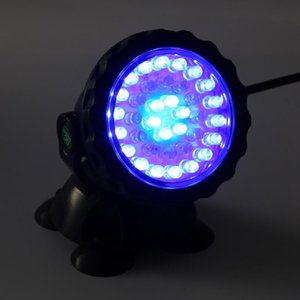 36 LED RGB Color Underwater Submersible Spot Light Fish Tank Aquarium Landscape Waterproof For Pool Fountains Pond Garden Lamp