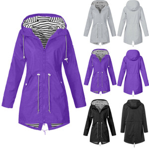 Brasão Mulheres Outono-Inverno com capuz Windproof Parka Jacket Trench Outwear Agasalho Plus Size Militar Long Sleeve Casacos S-5XL