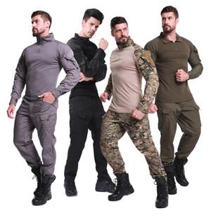 Açık Gömlek Erkek Avcılık Paintball Üniforma Ordu Savaş Egzersiz Taktik Giyim Kamuflaj Giyim Kamp